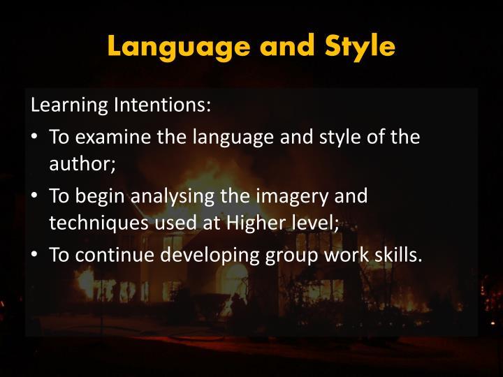 Language and Style