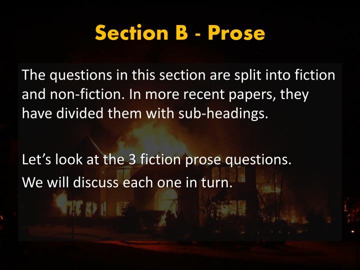 Section B - Prose