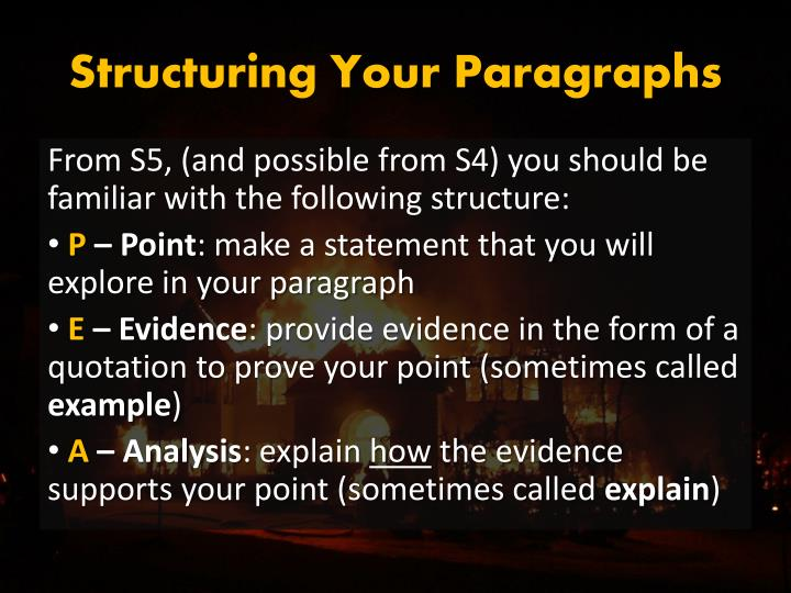 Structuring Your Paragraphs