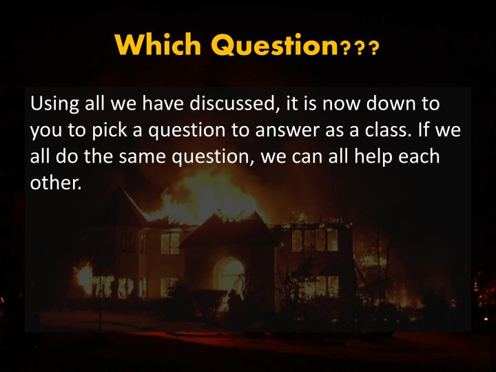 Which Question???