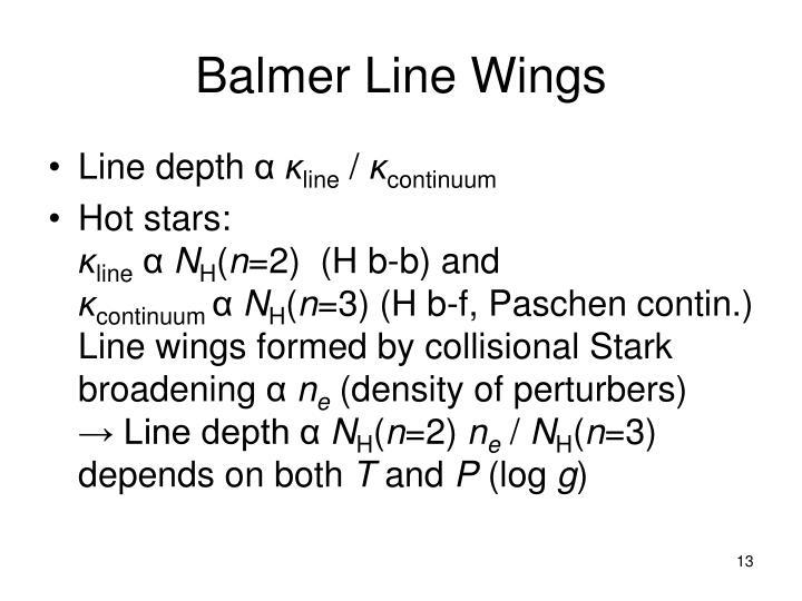 Balmer Line Wings