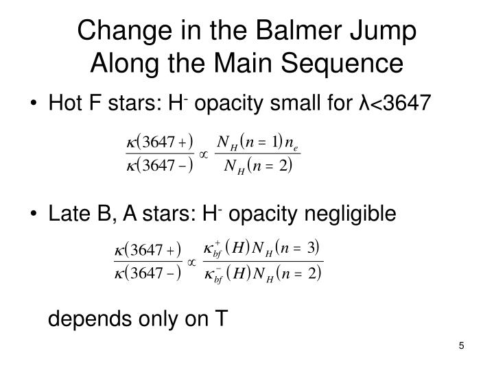 Change in the Balmer Jump