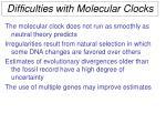 difficulties with molecular clocks