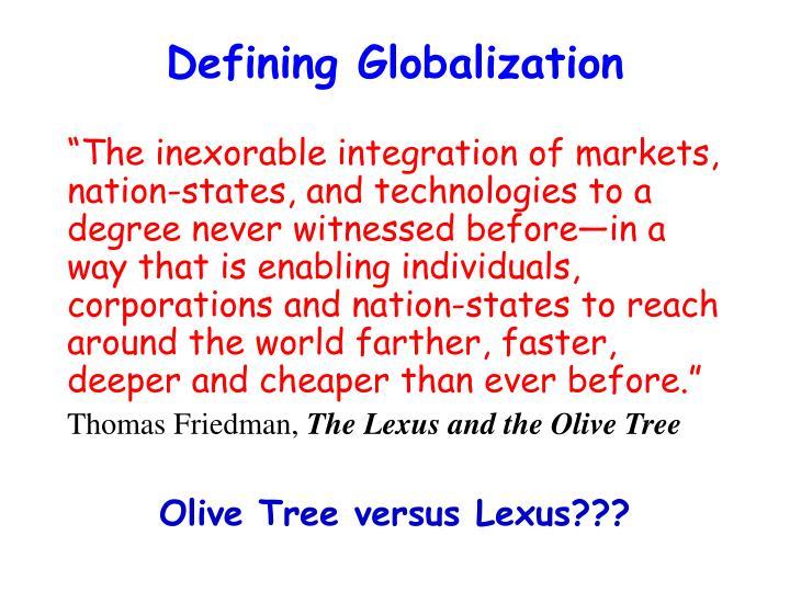 Defining Globalization