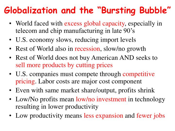 """Globalization and the """"Bursting Bubble"""""""