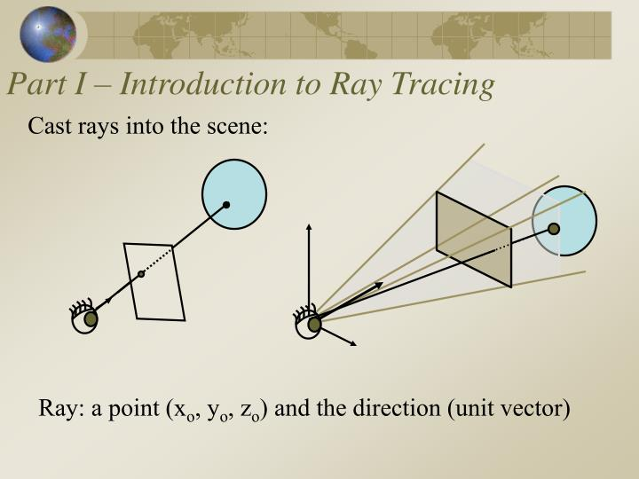 Part I – Introduction to Ray Tracing