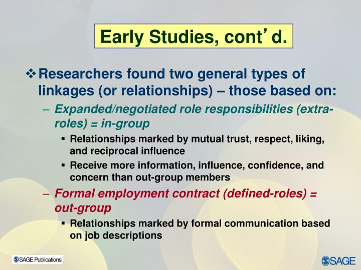 Researchers found two general types of linkages (or relationships) – those based on: