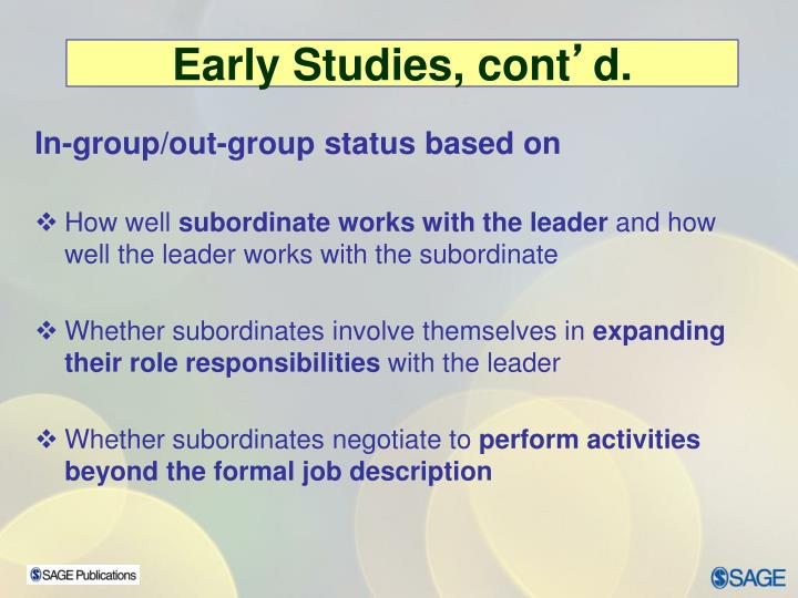 In-group/out-group status