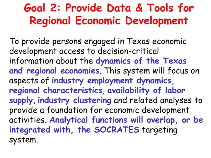 Goal 2: Provide Data & Tools for