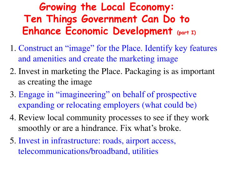 Growing the Local Economy: