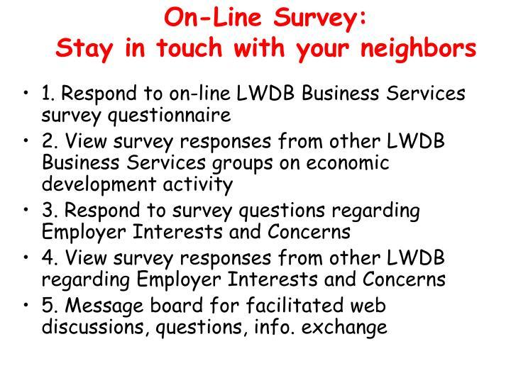 On-Line Survey: