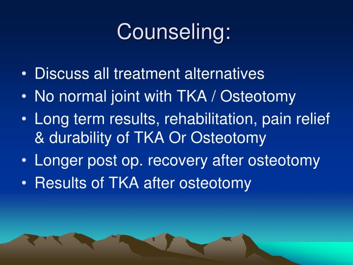 Counseling: