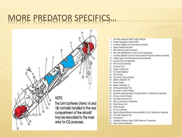More Predator Specifics…