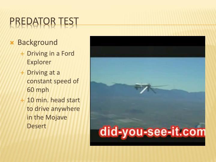 Predator Test