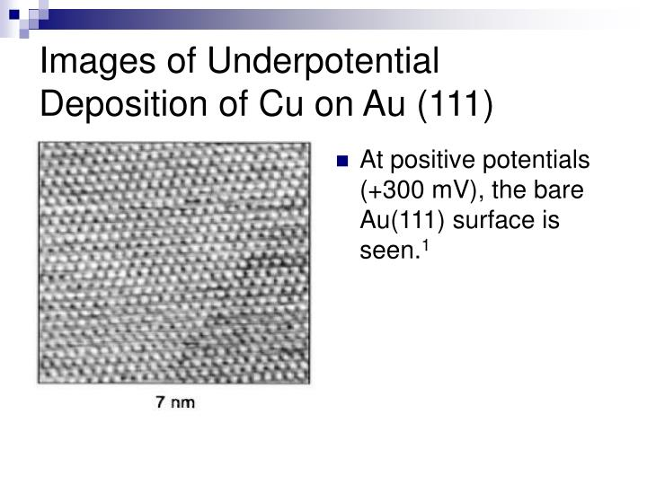Images of Underpotential Deposition of Cu on Au (111)