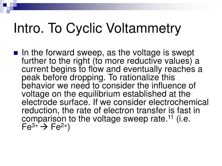 Intro. To Cyclic Voltammetry
