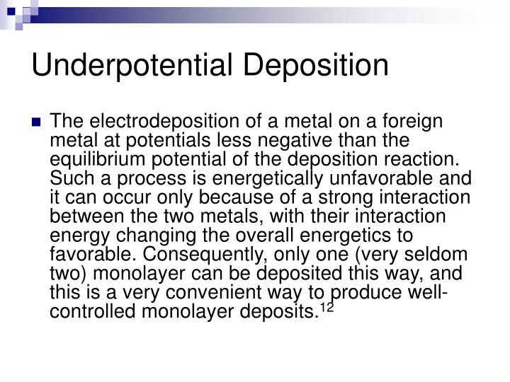 Underpotential Deposition