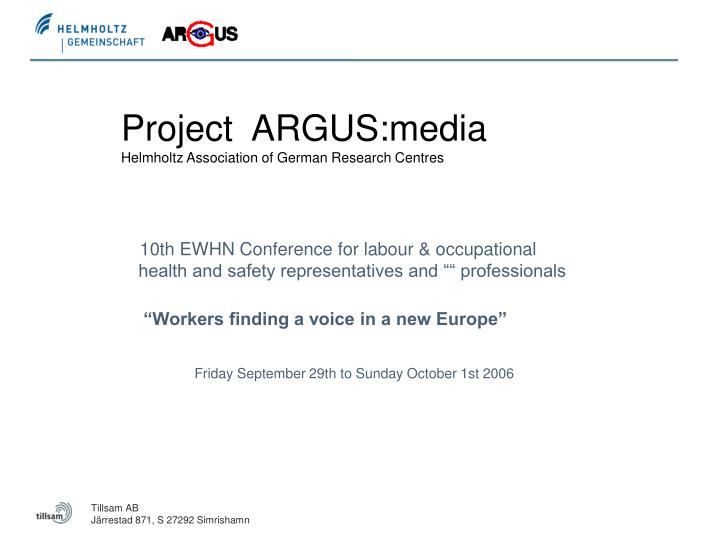 project argus media helmholtz association of german research centres n.