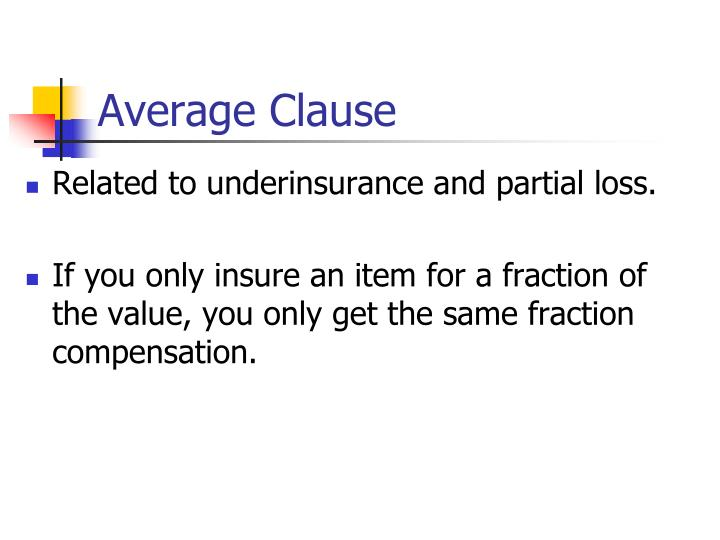 Average Clause