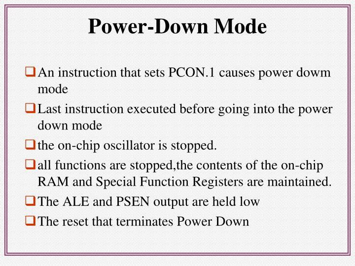 Power-Down Mode