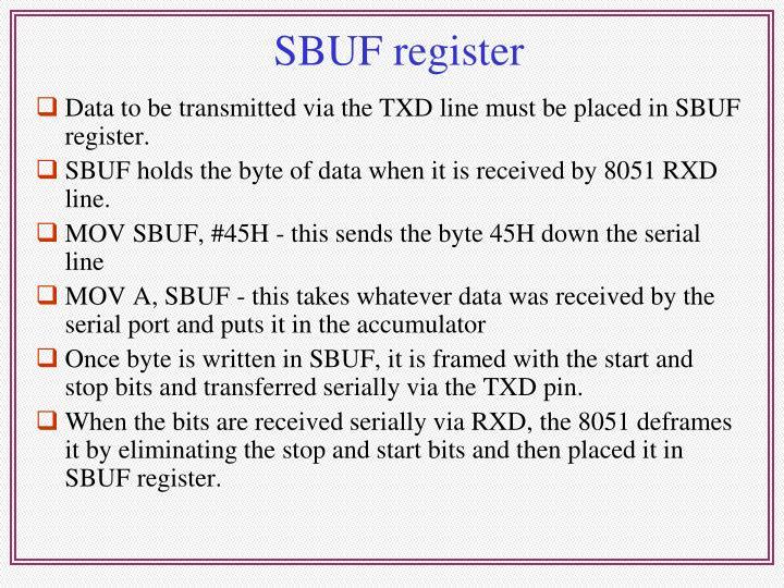 SBUF register