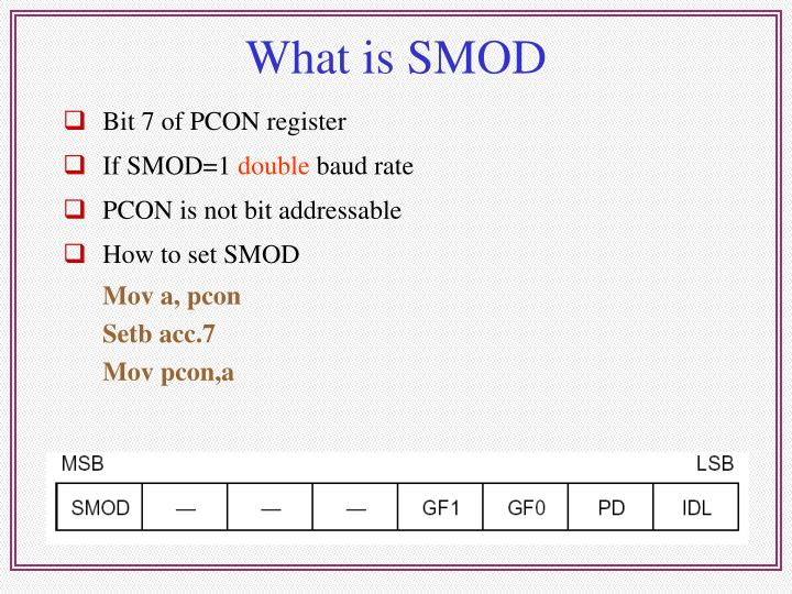 What is SMOD