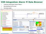 css integration alarm data browser