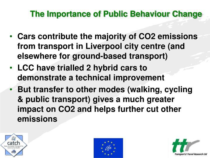 The Importance of Public Behaviour Change