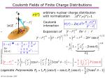coulomb fields of finite charge distributions