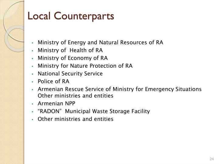 Local Counterparts