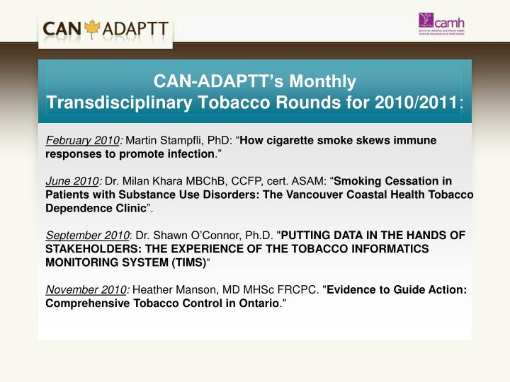CAN-ADAPTT's Monthly