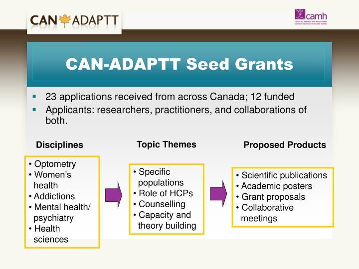CAN-ADAPTT Seed Grants