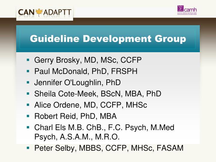 Guideline Development Group