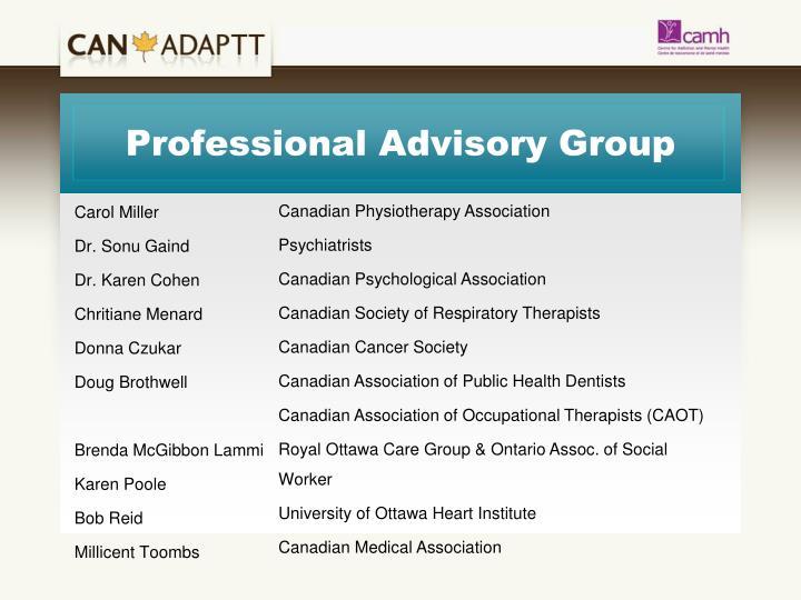 Professional Advisory Group