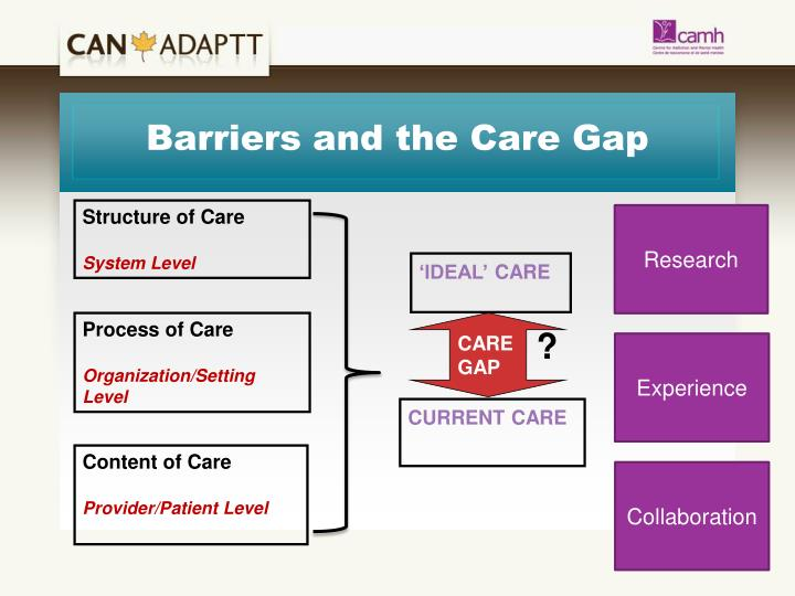 Barriers and the Care Gap