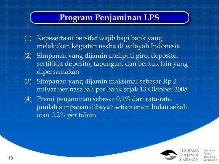 Program Penjaminan LPS