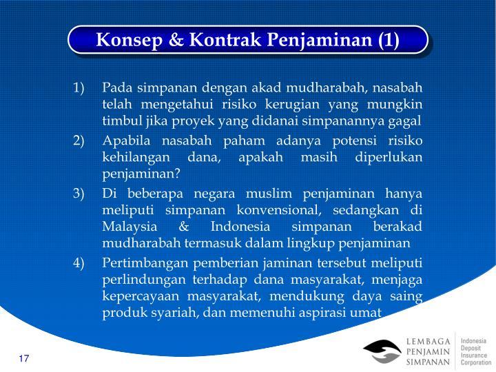 Konsep & Kontrak Penjaminan (1)