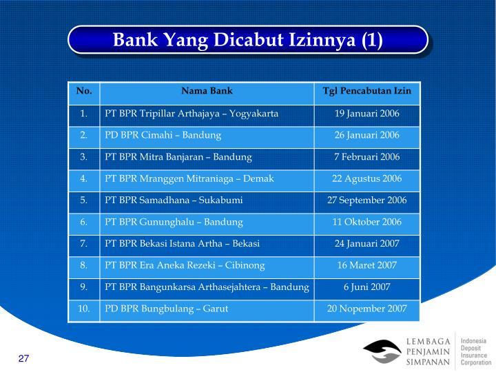 Bank Yang Dicabut Izinnya (1)
