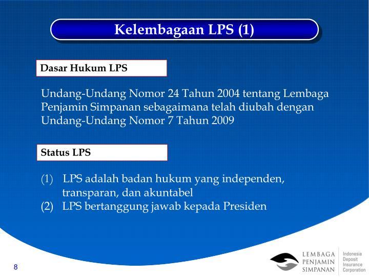 Kelembagaan LPS (1)
