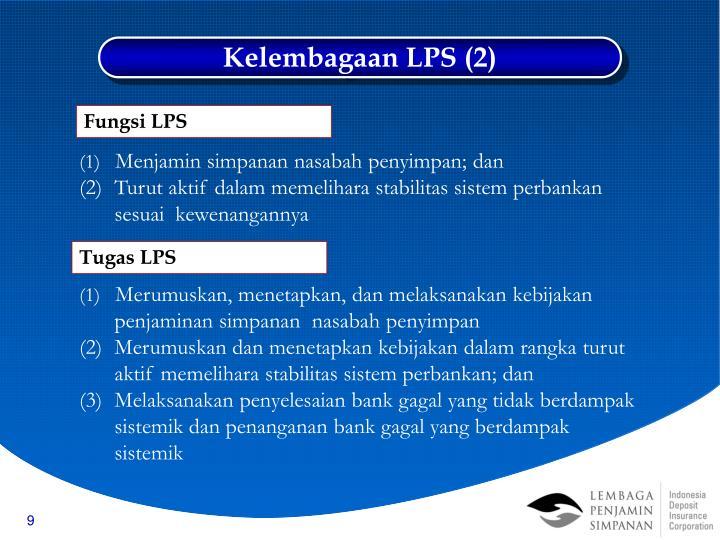 Kelembagaan LPS (2)