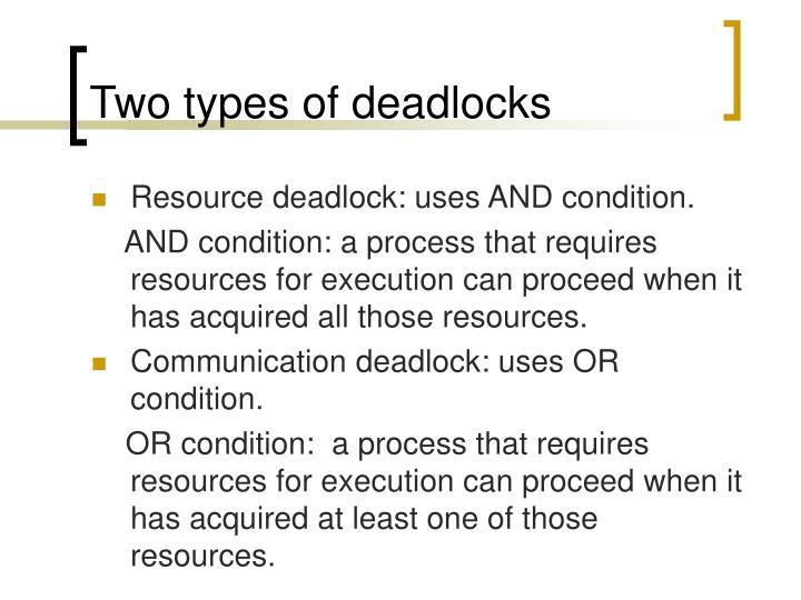Two types of deadlocks