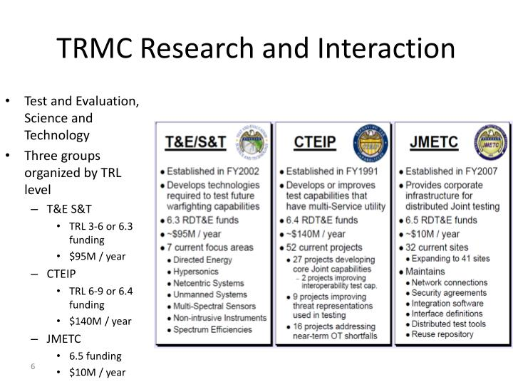 TRMC Research and Interaction