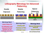 lithography metrology for advanced patterning