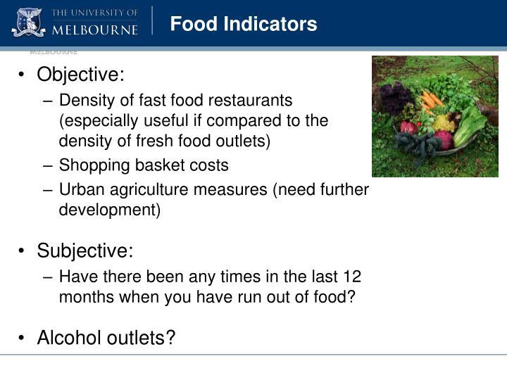 Food Indicators