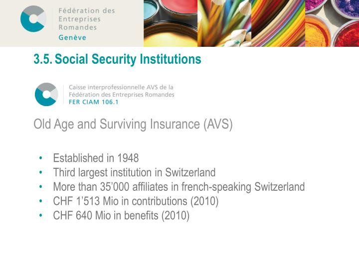 3.5.	Social Security Institutions