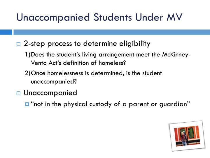 Unaccompanied Students Under MV