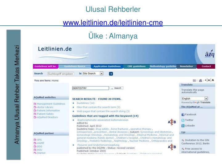 Ulusal rehberler www leitlinien de leitlinien cme lke almanya