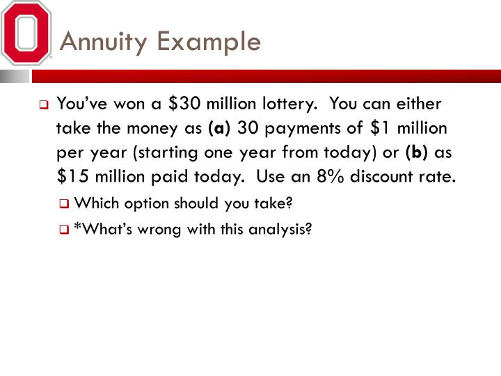 Annuity Example