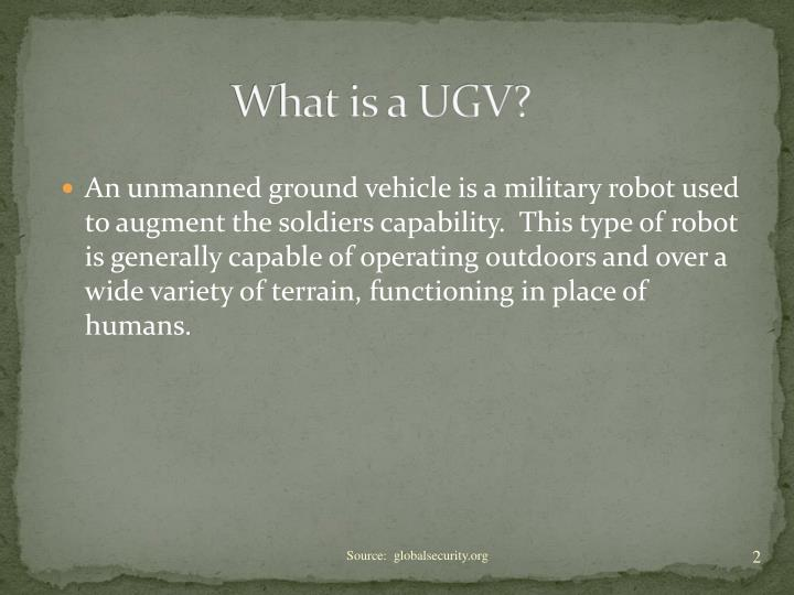 What is a ugv