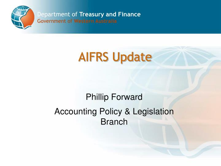 Phillip forward accounting policy legislation branch